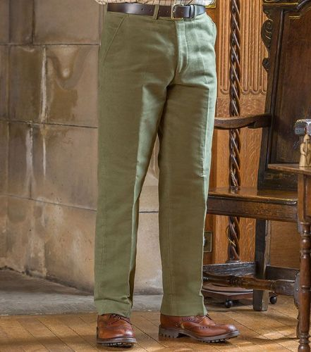 Hoggs of Fife Monarch Moleskin Trousers: Lovat